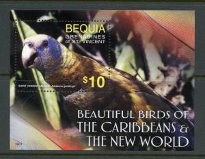 ST. VINCENT GR. BEQUIA  2018  BEAUTIFUL BIRDS OF CARIBBEANS S/SHEET  MINT NH