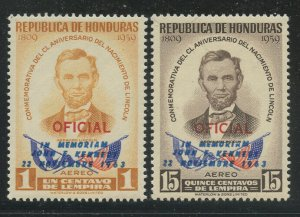 Honduras 1964 Kennedy Memorial set Sc# C325-30 NH