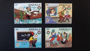Disney - Anguilla - Mark Twain - Christmas 1985. ** MNH complete set