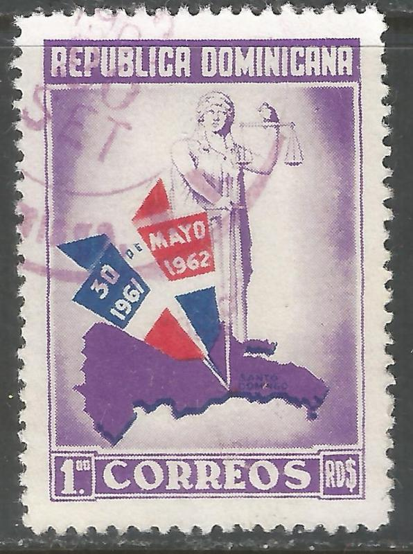 DOMINICAN REPUBLIC 564 VFU MAP Z924-3