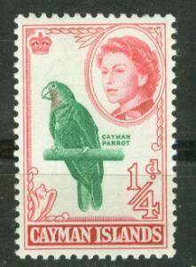 Cayman Is. # 153 QE II Cayman PARROT  (1) Unused VLH