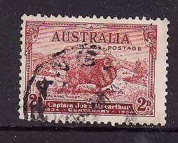 Australia-Sc#147-used 2p copper red-Marino sheep-1934-