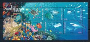 [47851] Australia 1995 Marine life Fish Turtle Shark Gold Ovp Adelaide MNH Sheet