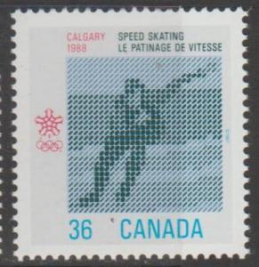 Canada Scott #1130 Calgary Olympics 1988 Stamp - Mint NH Single