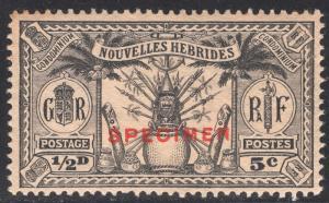 NEW HEBRIDES-FRENCH SCOTT 44