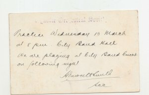 QUEENSLAND, Postal Card 1912 1d. Red,  GYMPIE ORCHESTRAL SOCIAL, GYMPIE, local.