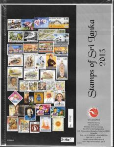 SRI LANKA/2013, OFFICIAL COMPLETE YEAR SET, MNH