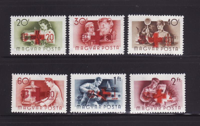 Hungary B211-B216 Set MNH Red Cross (C)