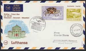 ROMANIA 1968 Lufthansa first flight to Germany..............................H277