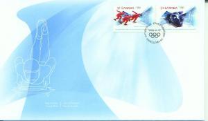 Canada FDC, 2006, Olympics, Turin, Italy (CAFDC2143-4)