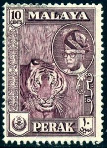 Tiger, Sultan Yussuf Izuddin Shah, Malaya Perak SC#132 used
