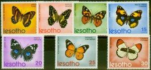 Lesotho 1973 Butterflies Set of 7 SG239-245 Fine Mtd Mint