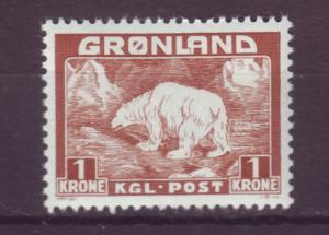 J16553 JLstamps 1938-46 greenland mnh #9 polar bear