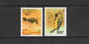 BIRDS - DJIBOUTI #462-3  MNH
