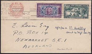 NEW ZEALAND 1942 cover Trentham Pilitary Camp machine cancel...............8978