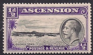 Ascension Island 1934 KGV 1/2d George Town MM SG 21 ( F689 )