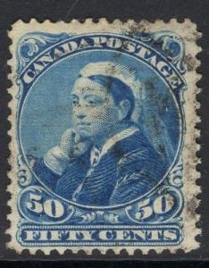 CANADA SG116 1893 50c BLUE FINE USED