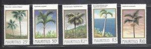 Mauritius MNH 591-5 Palm Trees