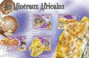 Central African Republic - Minerals - 4 Stamp  Sheet - 3H-039