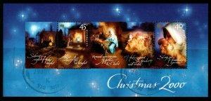 AUSTRALIA SGMS2058 2000 CHRISTMAS FINE USED