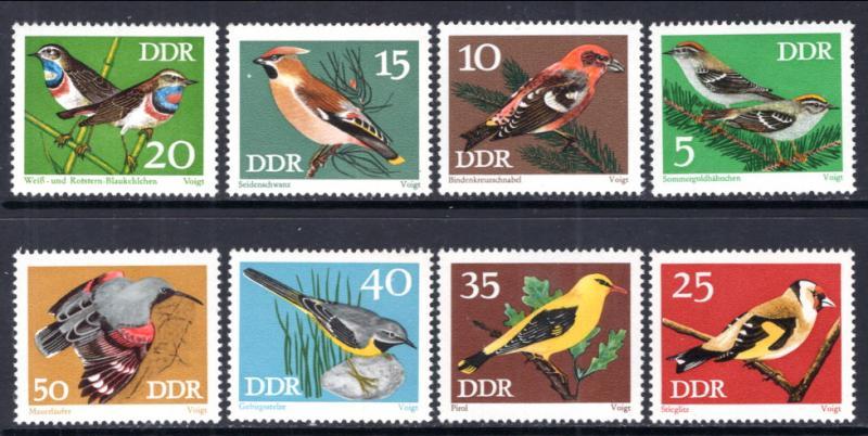 Germany DDR 1453-1460 Birds MNH VF