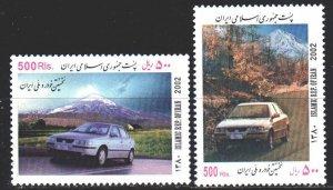 Iran. 2002. 2876-77. Cars. MNH.