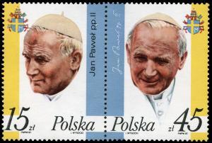 Poland MNH 2806a Pair Pope John Paul II