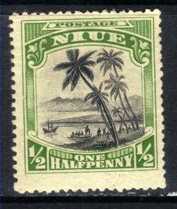 Niue 1920 KGV 1/2d Black & Green MM SG 38 ( F17 )