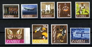 ZAMBIA 1968 Definitive Part Set SG 129 to SG 139 MINT