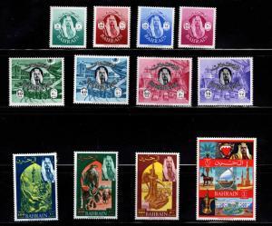 BAHRAIN Scott 141-152 MH* set of 12