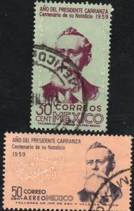 MEXICO 907,C246 Cent. Venustiano Carranza. Used. (453)