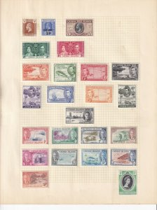 CAYMAN ISLANDS ALBUM PAGE  VALUES MOSTLY 1938-55, MINT/USED