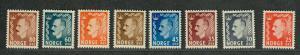 Norway Sc#310-317 M/NH/VF, Complete Set, Cv. $63.50