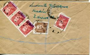 Poland 2  commercial covers to England  with GROSZY op