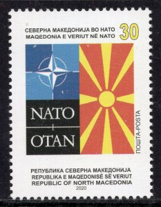 382 - NORTH MACEDONIA 2020 - Accession of Northern Macedonia to NATO - MNH Set