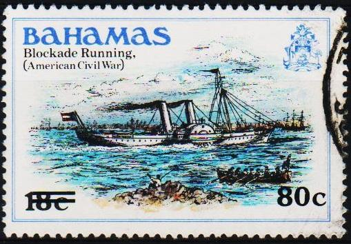 Bahamas. 1983 80c on 18c S.G.648 Fine Used