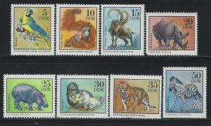 GERMANY DDR - #1630-#1637 - 1975 ZOO ANIMALS MINT SET MNH