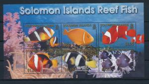 [28299] Solomon Islands 2001 Marine Life Coral reef Fish MNH Sheet