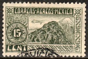 MEXICO C172, 15c 1934 Definitive Wmk Gobierno... 279 USED. F-VF. (705)