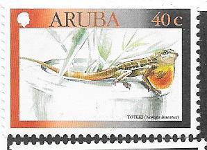 Aruba #186 40c Lizard   (MNH) CV $1.25