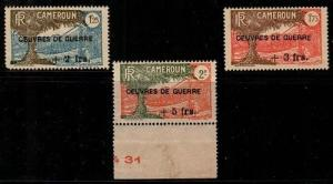 Cameroun Scott B7-9 Mint NH (usual brown gum Original Gum) - Maury CV 195 Euros