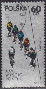 Poland 1876 USED - 1972 Warsaw-Berlin-Prague Race