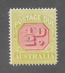 Australia Scott #J50 Mint 1/2 p Postage Due 2015 CV $9.25