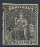 Barbados SG 12a SC# 9  Used  Black 4 margins please see scans and details