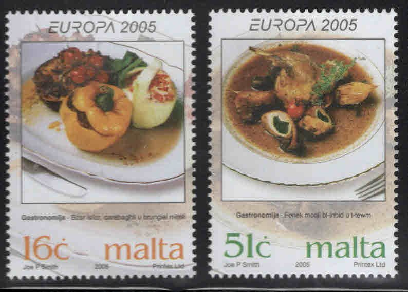 MALTA  Scott 1202-1203 MNH** Europa 2005 culinary stamp set