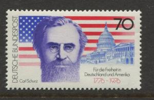 Germany -Scott 1216 - General Issue-1976 - MNH - Single 70pf Stamp