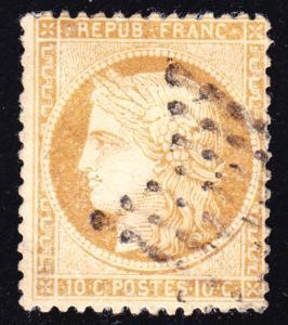 France Scott 54  F+  used.