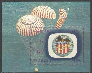 Fujeira M Bl 98 IMP  MH  Apollo 16 Souvenir Sheet