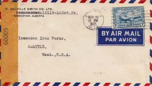Canada, Airmail, Censored