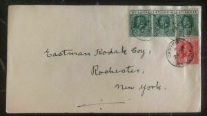1919 Castries Saint Lucia cover to Rochester New York USA